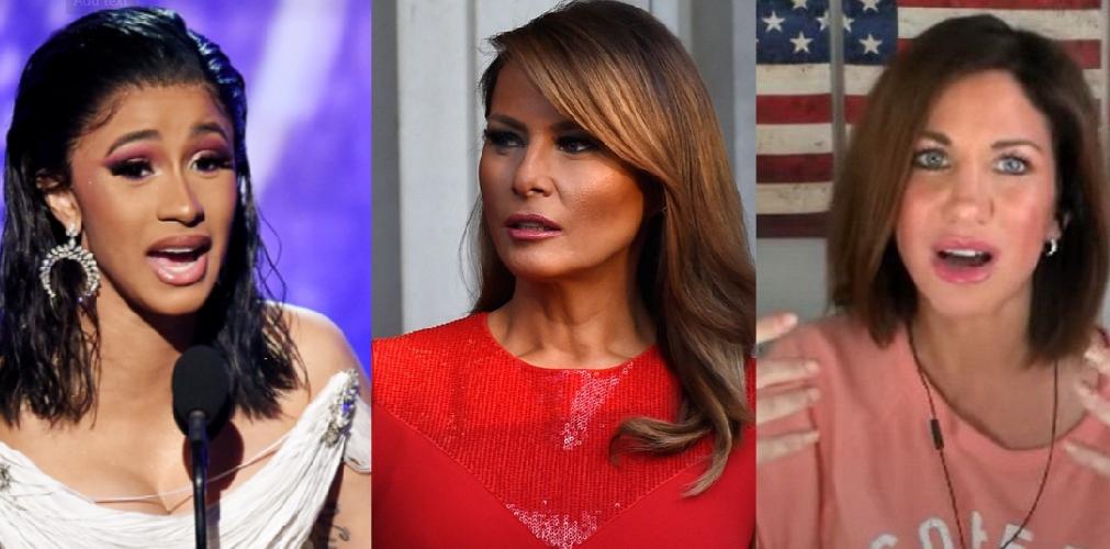 Cardi B Shares A Nude Photo Of US First Lady Melania Trump